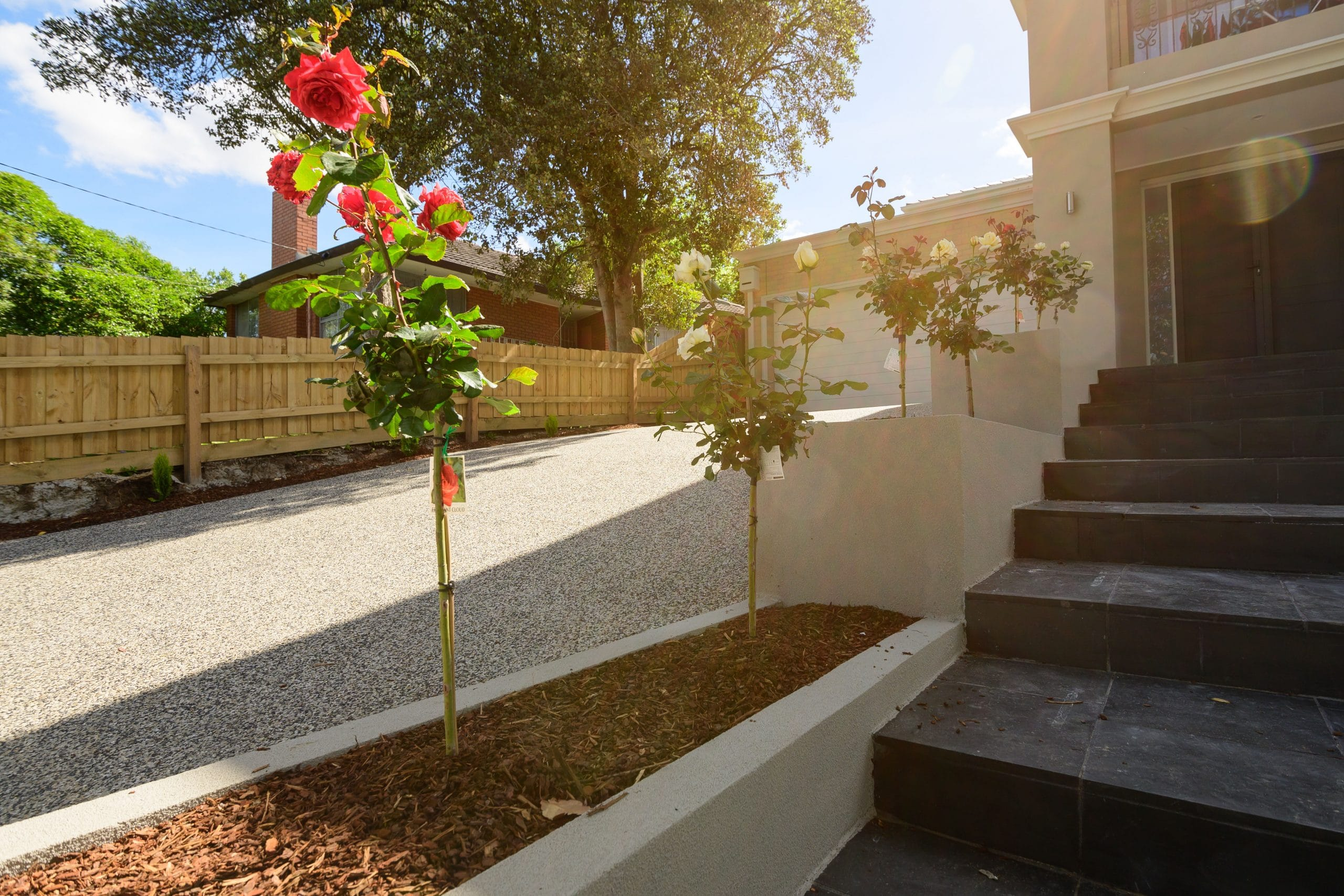 L260 - Doncaster East - Driveway with rose garden
