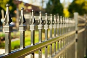 Deanside - Pointed metal fence