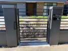 SS144 – Single Steel Gate with Modular Fence