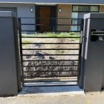 SS144 - Single Steel Gate with Modular Fence