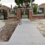 SF189 - Yarraville - Front Yard Steel Fencing