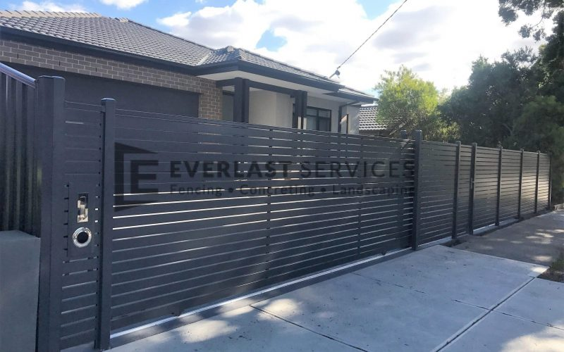 Horizontal Slats Sliding Gate