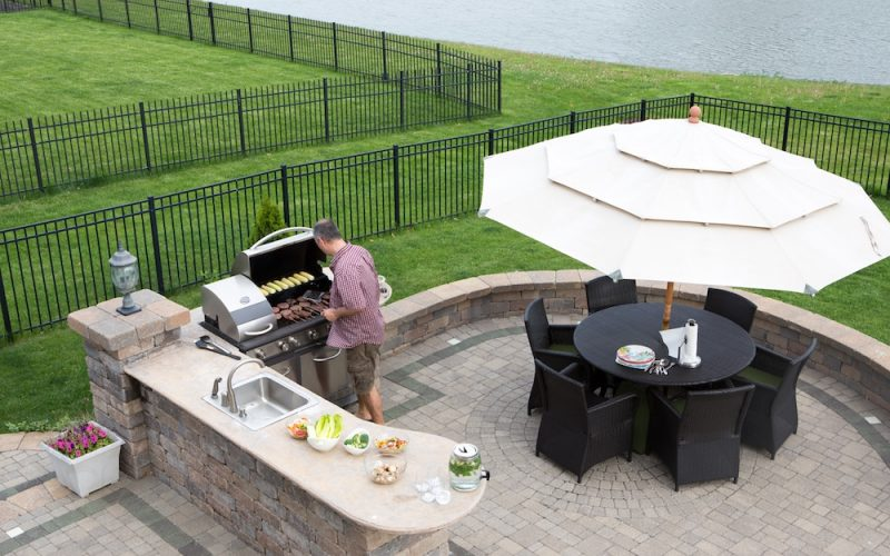 Outdoor Alfresco Kitchen BBQ